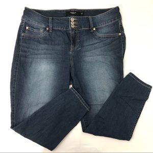 Torrid SHORT High Rise Dark Wash Skinny Jeans Blue